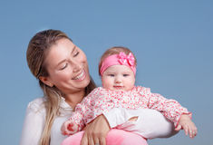 Mother with daughter portrait Royalty Free Stock Photo