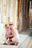 Mother and daughter portrait outdoors Royalty Free Stock Photo
