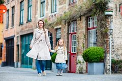 Mother and daughter portrait outdoors Royalty Free Stock Photos