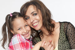 Mother and daughter portrait Stock Image