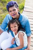 Mother and daughter. Portrait sitting stock image
