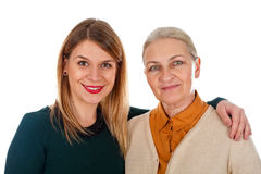 Mother-daughter portrait Royalty Free Stock Photos