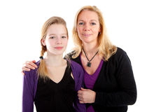 Mother and daughter posing Royalty Free Stock Image