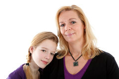 Mother and daughter posing Stock Photos