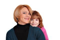 Mother and daughter posing Stock Photos