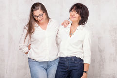 Mother with daughter posing. royalty free stock images