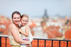 Mother and daughter in Prague Royalty Free Stock Photo