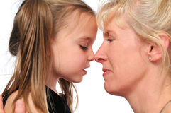 Mother and daughter profiles Royalty Free Stock Photography