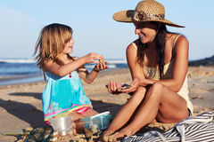 Mother daughter quality time Royalty Free Stock Image