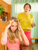 Mother and  daughter  after quarrel Royalty Free Stock Photos