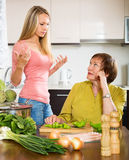 Mother and  daughter  after quarrel Royalty Free Stock Image