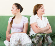 Mother and daughter  after quarrel Stock Photography
