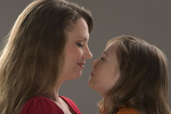 Mother and daughter read book Royalty Free Stock Photo