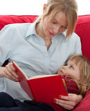 Mother and daughter reading book Royalty Free Stock Images