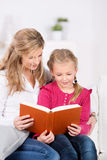 Mother And Daughter Reading Book together Royalty Free Stock Images