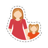 Mother and daughter relation family cut line Stock Photos