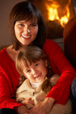 Mother And Daughter Relaxing Royalty Free Stock Photography