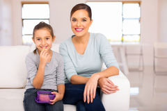 Mother daughter relaxing Royalty Free Stock Images
