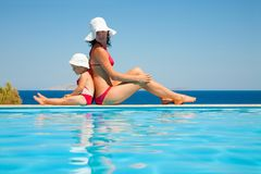 Mother with  daughter on resort Stock Image