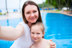 Mother and daughter at resort Royalty Free Stock Photography