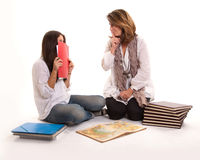 Mother and daughter secret Royalty Free Stock Photos
