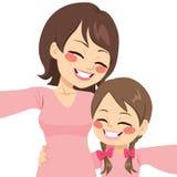 Mother Daughter Selfie Stock Image