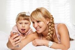Mother daughter selfie Royalty Free Stock Photos