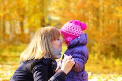 Mother and daughter sharing a moment Royalty Free Stock Photography