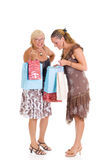 Mother, daughter shopping Royalty Free Stock Photography