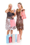 Mother, daughter shopping Royalty Free Stock Photos