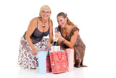 Mother, daughter shopping Royalty Free Stock Images