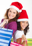 Mother daughter shopping Royalty Free Stock Photo