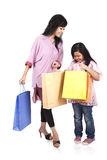 Mother and daughter shopping Stock Photography