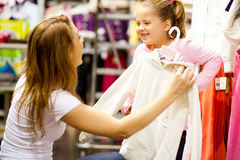 Mother daughter shopping Stock Images