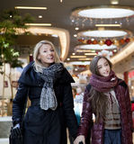 Mother with daughter shopping. Stock Image