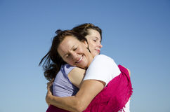 Mother and daughter showing love and affection royalty free stock photo