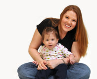 Mother and daughter sitting Stock Image