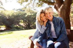 Mother and daughter sitting Royalty Free Stock Images