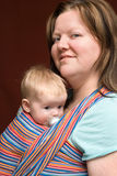 Mother and Daughter in Sling Stock Photos