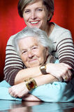 Mother and daughter smile Stock Images