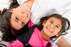 Mother and daughter smiling Stock Photography