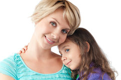 Mother and daughter smiling Royalty Free Stock Photography