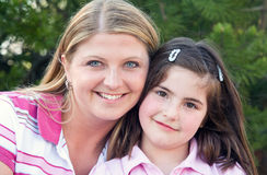 Mother Daughter Smiling Stock Image