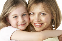 Mother And Daughter Smiling Stock Photos