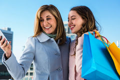 Mother and daughter smiling Royalty Free Stock Photo