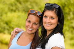 Mother and daughter smiling in the park Royalty Free Stock Photography