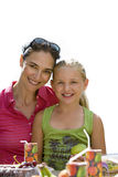 Mother and daughter, smiling, portrait, cut out Royalty Free Stock Photos