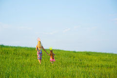 Mother and daughter spend a weekend. Stock Images