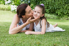 Mother and daughter spending time Stock Images