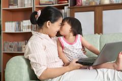 Mother and daughter spending time togehter Stock Photos